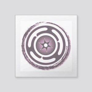"Purple Hecate's Wheel Square Sticker 3"" x 3"""