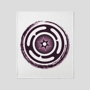 Purple Hecate's Wheel Throw Blanket
