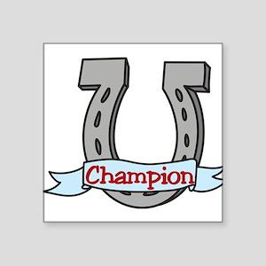 """Champion Square Sticker 3"""" x 3"""""""