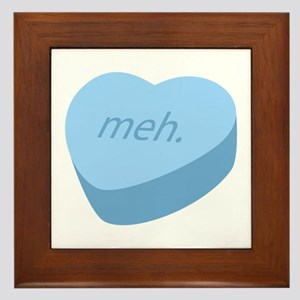 Meh_Heart_BL.png Framed Tile