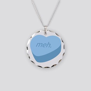 Meh_Heart_BL Necklace Circle Charm