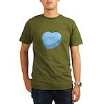 Meh_Heart_BL Organic Men's T-Shirt (dark)