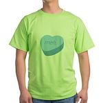 Meh_Heart_BL Green T-Shirt