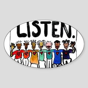 Listen Sticker (Oval)