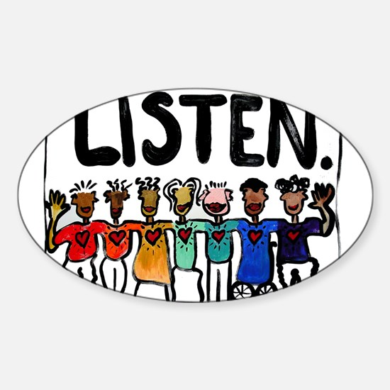Listen Sticker (Oval)