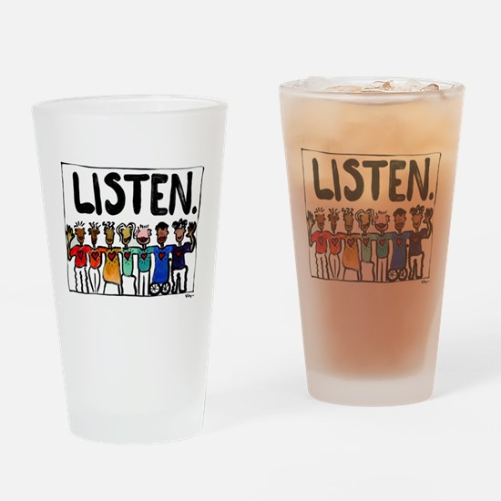 Listen Drinking Glass