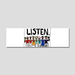 Listen Car Magnet 10 x 3