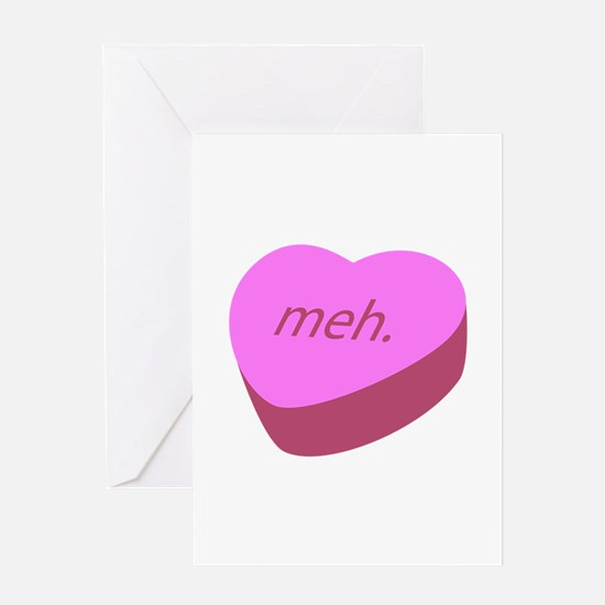 Meh_Heart.png Greeting Card