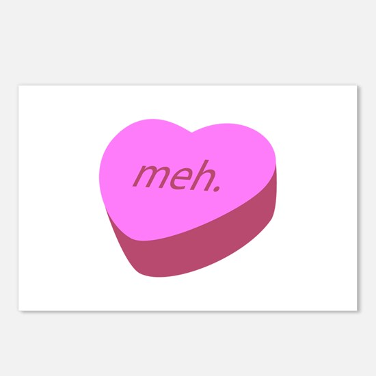 Meh_Heart.png Postcards (Package of 8)