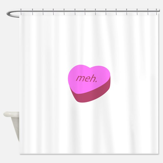 Meh_Heart.png Shower Curtain