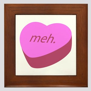 Meh_Heart.png Framed Tile