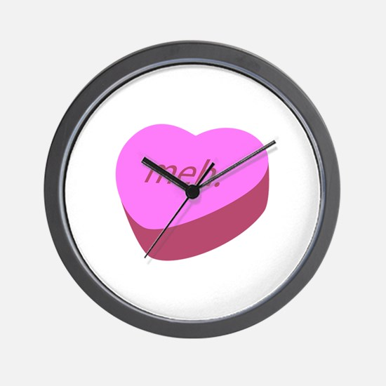 Meh_Heart.png Wall Clock