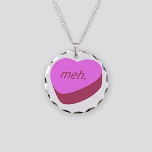 Meh_Heart Necklace Circle Charm