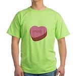 Meh_Heart Green T-Shirt