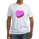 Meh_Heart Fitted T-Shirt
