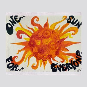 One Sun for Everyone Throw Blanket