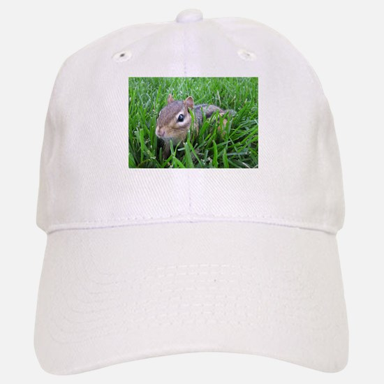 Chipmunk in the grass Baseball Baseball Cap