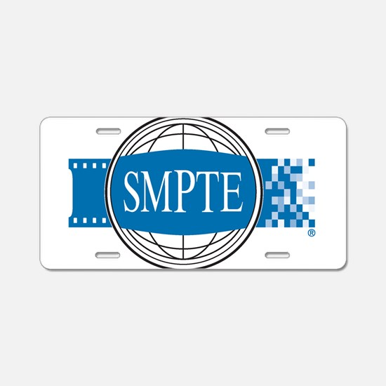 Official SMPTE Logo Aluminum License Plate