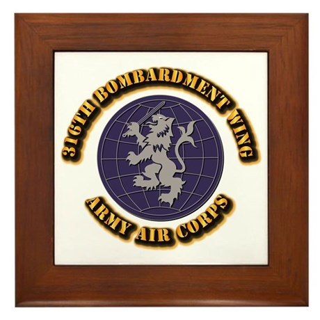 AAC - 316th Bombardment Wing Framed Tile