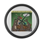 Reindeer Games Large Wall Clock