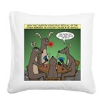 Reindeer Games Square Canvas Pillow