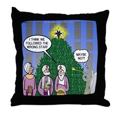 Wisemen in NY Throw Pillow