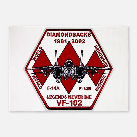 VF 102 Diamondbacks Commemorative 5'x7'Area Rug