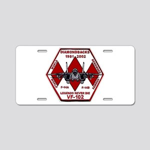 VF 102 Diamondbacks Aluminum License Plate
