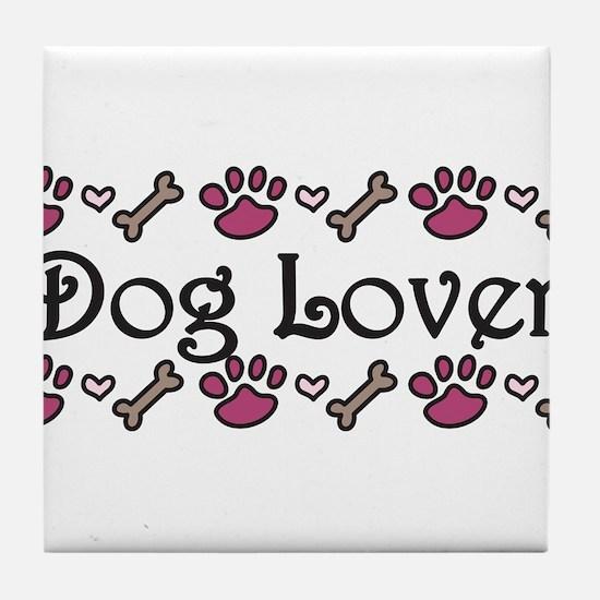 Dog Lover Tile Coaster