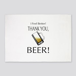 I feel Better. Thank you, Beer! 5'x7'Area Rug