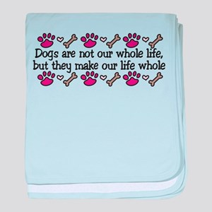 Our Whole Life baby blanket