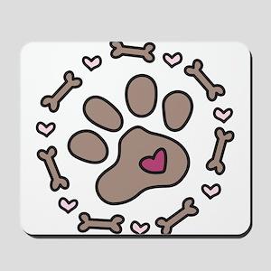 Dog Bone Circle Mousepad
