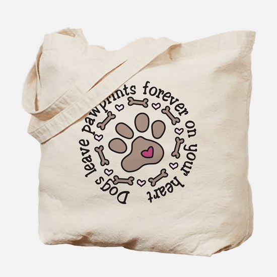 Pawprints Tote Bag