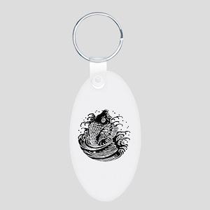 Carp water Aluminum Oval Keychain