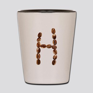 H Coffee Beans Shot Glass