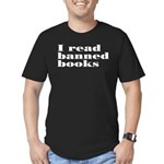 I Read Banned Books Men's Fitted T-Shirt (dark)
