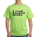 I Read Banned Books Green T-Shirt