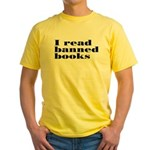 I Read Banned Books Yellow T-Shirt