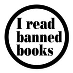 I Read Banned Books Round Car Magnet