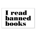 I Read Banned Books Sticker (Rectangle)