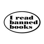 I Read Banned Books Oval Car Magnet