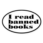 I Read Banned Books Sticker (Oval)
