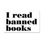 I Read Banned Books Car Magnet 20 x 12