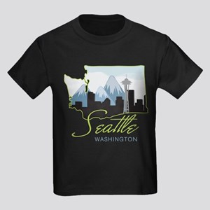 Seatle Washington Kids Dark T-Shirt
