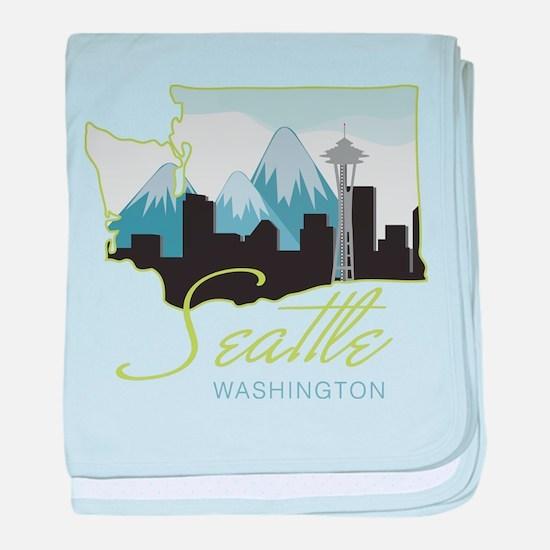Seatle Washington baby blanket