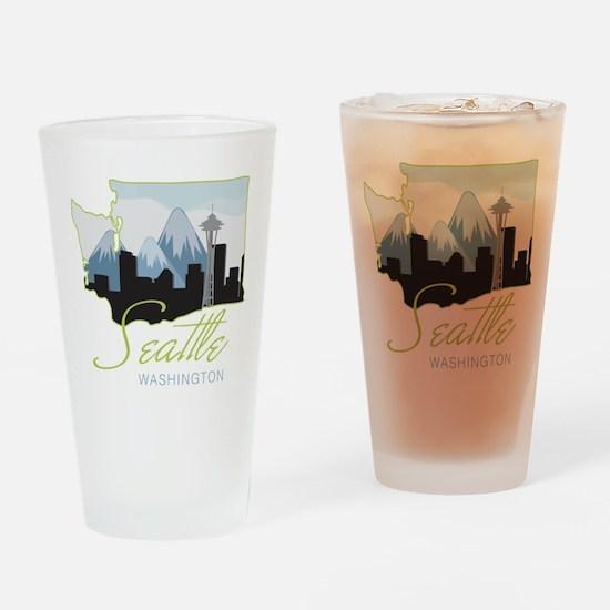 Seatle Washington Drinking Glass
