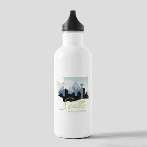 Seatle Washington Stainless Water Bottle 1.0L