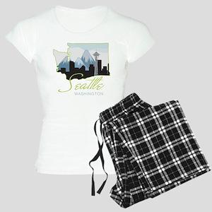 Seatle Washington Women's Light Pajamas