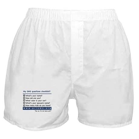 SMS Questions Boxer Shorts