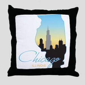 Chicago Illinois Throw Pillow
